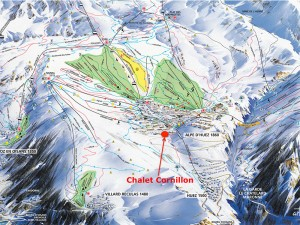 Chalet Cornillon on Piste Map