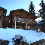 Front of Chalet & Hot Tub