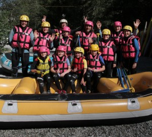 White water rafting Group